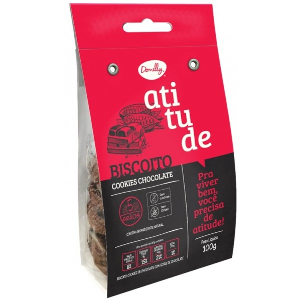 Biscoito Atitude Cookie Chocolate 100g
